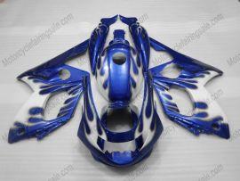 YZF-600R 1994-2007 ABS Fairing For Yamaha - Blue Flame - White