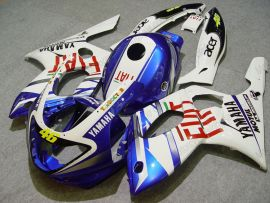 YZF-600R 1994-2007 ABS Fairing For Yamaha - FIAT - White/Blue