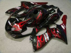 YZF-600R 1994-2007 ABS Fairing For Yamaha - Red Flame - Black/Red