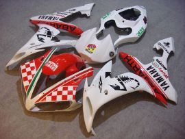 YZF-R1 2004-2006 Injection ABS Fairing For Yamaha - ABARTH - White/Red