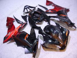 YZF-R1 2004-2006 Injection ABS Fairing - Black Flame For Yamaha - Black/Red