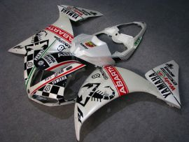 YZF-R1 2009-2011 Injection ABS Fairing For Yamaha - ABARTH - White/Black