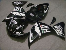 YZF-R1 2009-2011 Injection ABS Fairing For Yamaha - FIAT - Black/White