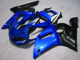 YZF-R6 1998-2002 Injection ABS Fairing For Yamaha - Black Flame - Black/Blue