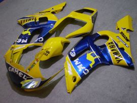 YZF-R6 1998-2002 Injection ABS Fairing For Yamaha - Camel - Yellow/Blue