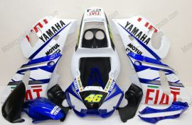 YZF-R6 1998-2002 Injection ABS Fairing For Yamaha - FIAT - Blue/White