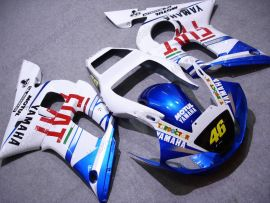 YZF-R6 1998-2002 Injection ABS Fairing For Yamaha - FIAT - White/Blue