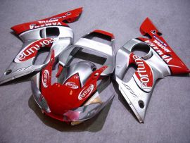 YZF-R6 1998-2002 Injection ABS Fairing For Yamaha - Fortuna - Red/Silver