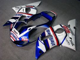 YZF-R6 1998-2002 Injection ABS Fairing For Yamaha - Sterilgarda - White/Blue