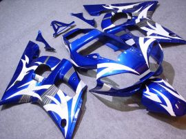 YZF-R6 1998-2002 Injection ABS Fairing For Yamaha - White Flame - Blue