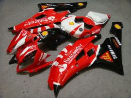 YZF-R6 2006-2007 Injection ABS Fairing For Yamaha - Santander - Red/Black/White