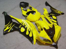 YZF-R6 2008-2014 Injection ABS Fairing For Yamaha - Black Flame - Yellow