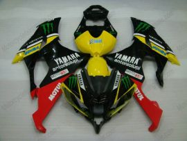 YZF-R6 2008-2014 Injection ABS Fairing For Yamaha - Monster - Black/Yellow/Red