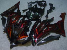 YZF-R6 2008-2014 Injection ABS Fairing For Yamaha - Red Flame - Black/Red