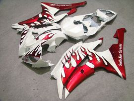 YZF-R6 2008-2014 Injection ABS Fairing For Yamaha - Red Flame - White/Red