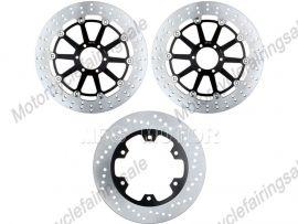 Ducati 400 750 888 900 916 944 992 996 SS MONSTER Front Floating Disc Brake Rotor For Kawasaki - Black