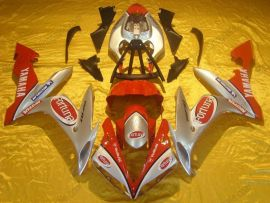 YZF-R1 2004-2006 Injection ABS Fairing For Yamaha - Fortuna - Silver/Red