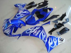 YZF-R1 2009-2011 Injection ABS Fairing For Yamaha - Flame - Blue/White