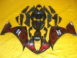 YZF-R1 2009-2011 Injection ABS Fairing For Yamaha - Flame - Black/Red