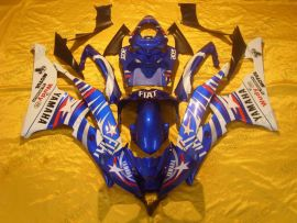 YZF-R6 2006-2007 Injection ABS Fairing For Yamaha - FIAT - Blue/White