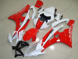 YZF-R6 2006-2007 Injection ABS Fairing For Yamaha - Motul - Red/White