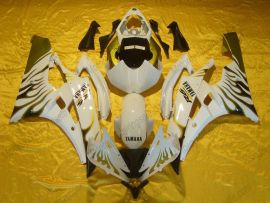 YZF-R6 2006-2007 Injection ABS Fairing For Yamaha - Flame - White/Gold