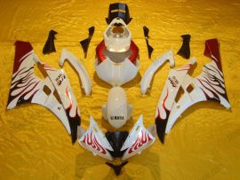 YZF-R6 2006-2007 Injection ABS Fairing For Yamaha - Flame - White/Red
