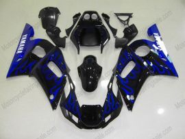 YZF-R6 1998-2002 Injection ABS Fairing For Yamaha - Flame - Black/Blue