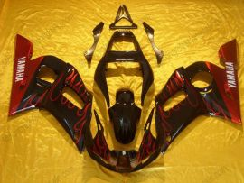 YZF-R6 1998-2002 Injection ABS Fairing For Yamaha - Flame - Black/Red