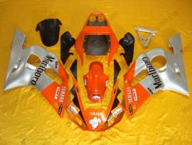 YZF-R6 1998-2002 Injection ABS Fairing For Yamaha - Others - Silver/Orange