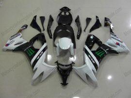 NINJA ZX10R 2008-2010 Injection ABS Fairing For Kawasaki - Monster - White/Black