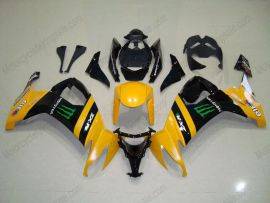 NINJA ZX10R 2008-2010 Injection ABS Fairing For Kawasaki - Monster - Yellow/Black