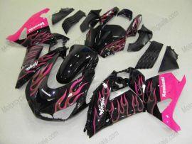 NINJA ZX14R 2006-2011 Injection ABS Fairing For Kawasaki - Flame - Black/Pink