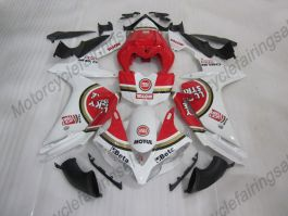YZF-R1 2007-2008 Injection ABS Fairing For Yamaha - Lucky Strike - White/Red