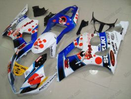 GSX-R 1000 2003-2004 K3 Injection ABS Fairing For Suzuki - Dark Dog - White/Blue