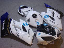 CBR1000RR 2004-2005 Injection ABS Fairing For Honda - Konica Minolta - White