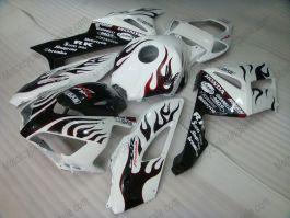 CBR1000RR 2004-2005 Injection ABS Fairing For Honda - Red Flame - White/Black