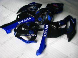 CBR1000RR 2004-2005 Injection ABS Fairing For Honda - BACARDI - Black/Blue