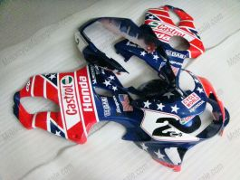 F4 1999-2000 Injection ABS Fairing For Honda CBR600 - Castrol - Blue/Red