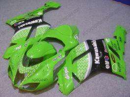 NINJA ZX6R 2007-2008 Injection ABS Fairing For Kawasaki - Nakano - Green/Black