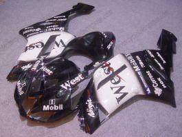 NINJA ZX6R 2007-2008 Injection ABS Fairing For Kawasaki - West - Black/White