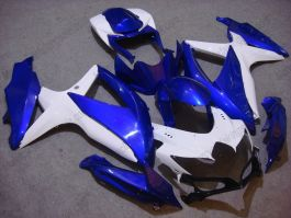 GSX-R 600/750 2008-2010 K8 Injection ABS Fairing For Suzuki - Others - Blue/White