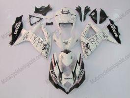 GSX-R 600/750 2008-2010 K8 Injection ABS Fairing For Suzuki - Corona - White/Black