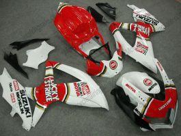 2008-2010-k8-injection-abs-fairing-for-suzuki-gsx-r-600-750-lucky-strike-white-red2008-2010 K8 Injection ABS Fairing For Suzuki x- Lucky Strike - White/Red