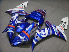 YZF-R1 2002-2003 Injection ABS Fairing For Yamaha - FIAT - Blue/White
