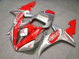 YZF-R1 2002-2003 Injection ABS Fairing For Yamaha - Fortuna - Red/Silver
