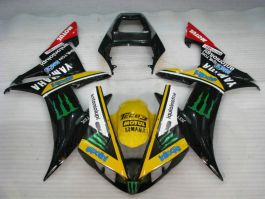 YZF-R1 2002-2003 Injection ABS Fairing For Yamaha - Monster - Black/Yellow