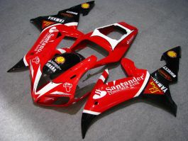 YZF-R1 2002-2003 Injection ABS Fairing For Yamaha - Santander - Red/Black