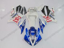 YZF-R1 2002-2003 Injection ABS Fairing For Yamaha - FIAT - White/Blue