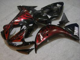 YZF-R1 2009-2011 Injection ABS Fairing For Yamaha - Red Flame - Black/Red